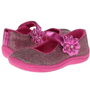 Stride Rite Girl's Haylie Sparkle Mary Jane Shoes